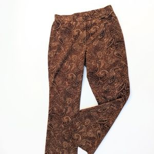 Paisley Brown Womens Pants Stretchy Comfort Career